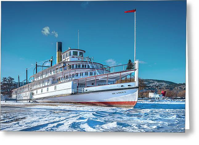 Greeting Card featuring the photograph S. S. Sicamous by John Poon