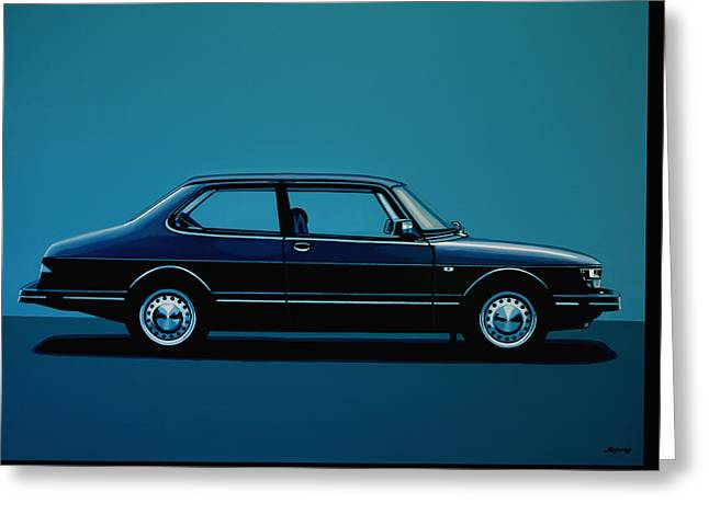 Saab 90 1985 Painting Greeting Card by Paul Meijering