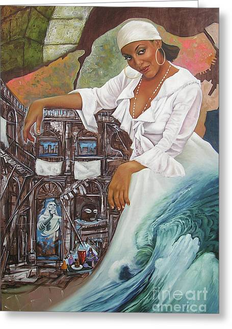 Sabanas Blancas Greeting Card by Jorge L Martinez Camilleri