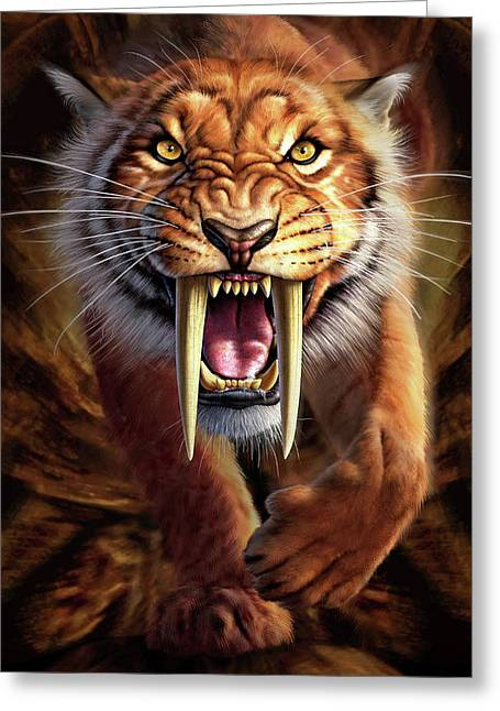 Sabertooth Greeting Card