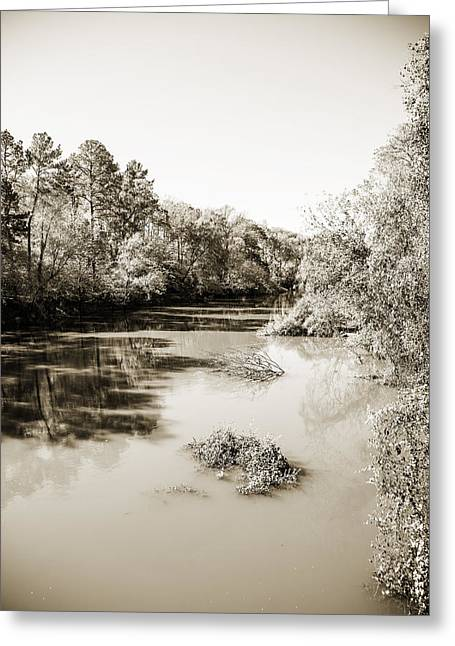 Sabine River Near Big Sandy Texas Photograph Fine Art Print 4083 Greeting Card by M K  Miller