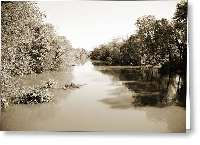 Sabine River Near Big Sandy Texas Photograph Fine Art Print 4086 Greeting Card by M K  Miller