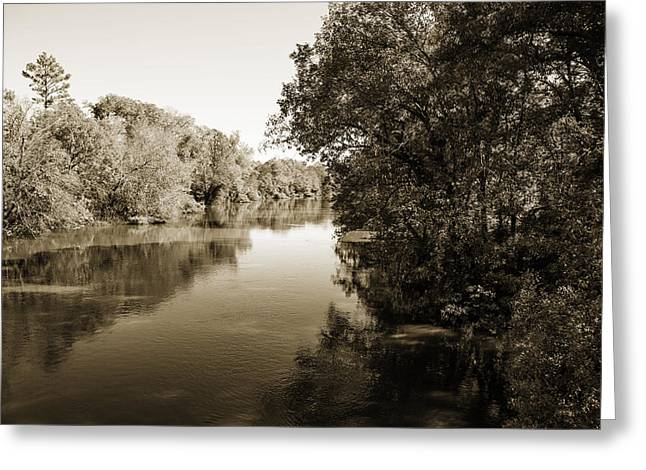 Sabine River Near Big Sandy Texas Photograph Fine Art Print 4092 Greeting Card by M K  Miller