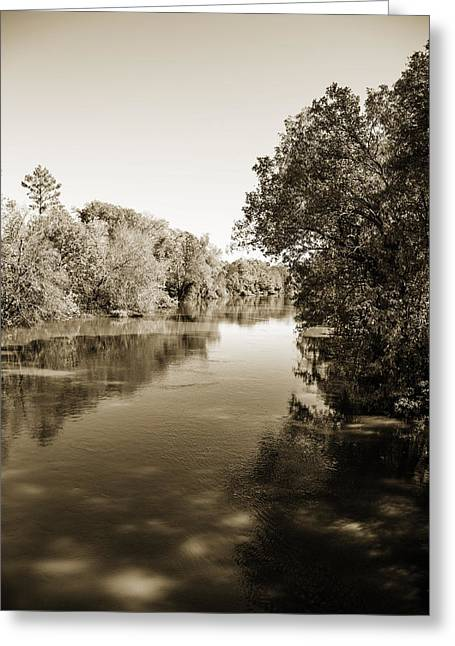 Sabine River Near Big Sandy Texas Photograph Fine Art Print 4095 Greeting Card by M K  Miller