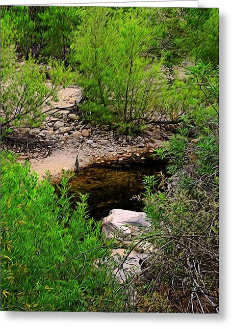 Greeting Card featuring the photograph Sabino Canyon Op44 by Mark Myhaver