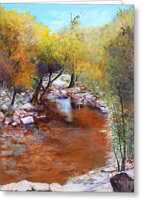 Sabino Canyon Scenes Greeting Card by M Diane Bonaparte