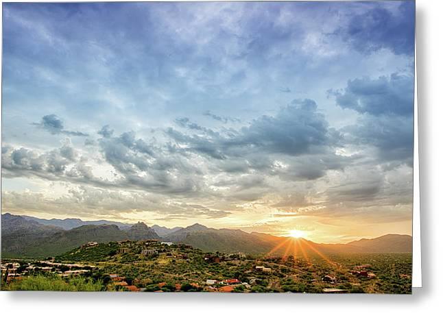 Sabino Canyon Sunrise Greeting Card by Kayta Kobayashi