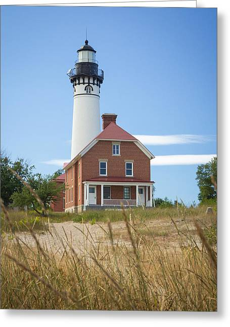 Sable Point Lighthouse Greeting Card