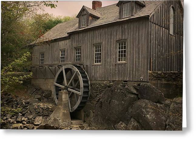 Sable River Gristmill Greeting Card by Christine Sharp