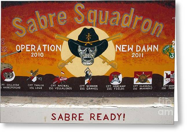Sabre Squadron - Ond Greeting Card by Unknown