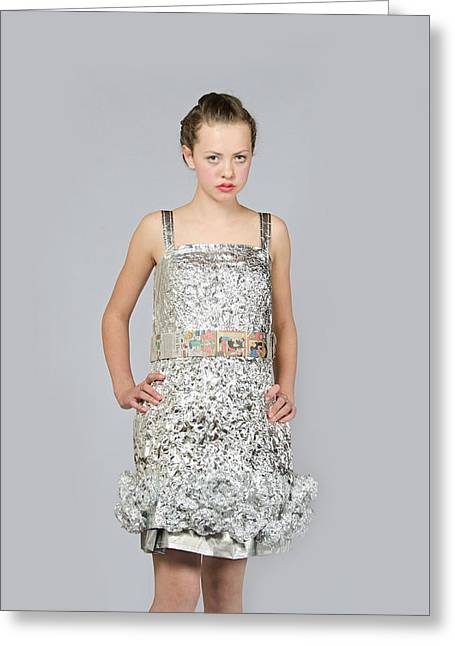 Nicoya In Dress Secondary Fashion 2 Greeting Card