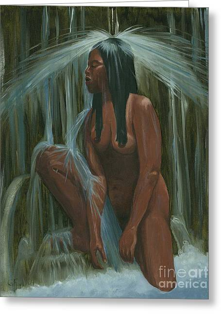 Sacagawea In The Water Cave Greeting Card