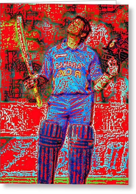 Sachin Tendulkar-100th 100-god Of Criket Greeting Card