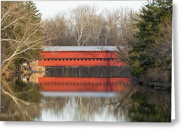 Sachs Bridge Gettyburg, Pa Greeting Card by Bill Caldwell