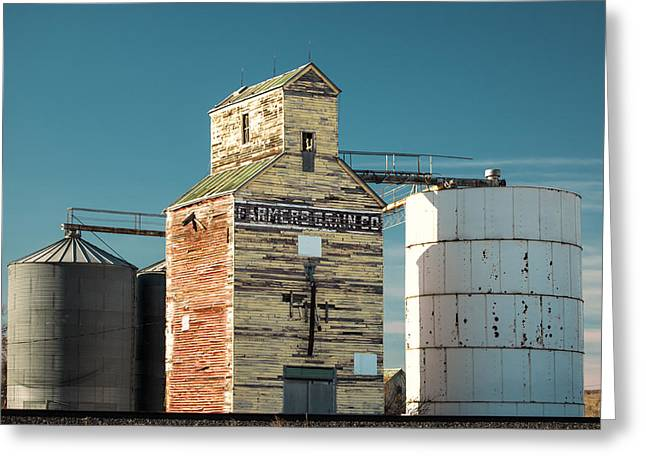 Saco Grain Elevator Greeting Card by Todd Klassy