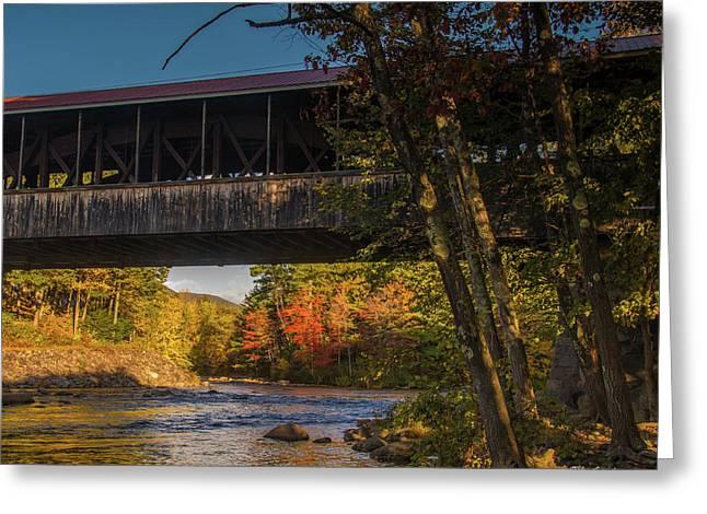 Saco River Covered Bridge Greeting Card