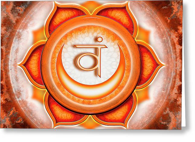 Sacral Chakra - Series 5 Greeting Card by Dirk Czarnota