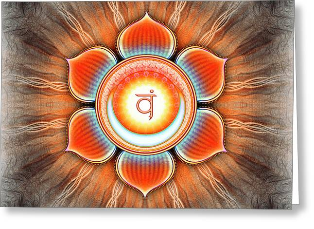 Sacral Chakra - Series 4 Greeting Card by Dirk Czarnota