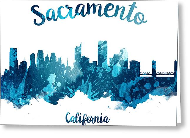Sacramento California 27 Greeting Card by Aged Pixel