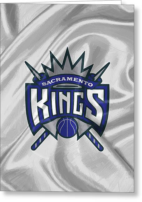 Sacramento Kings Greeting Card by Afterdarkness