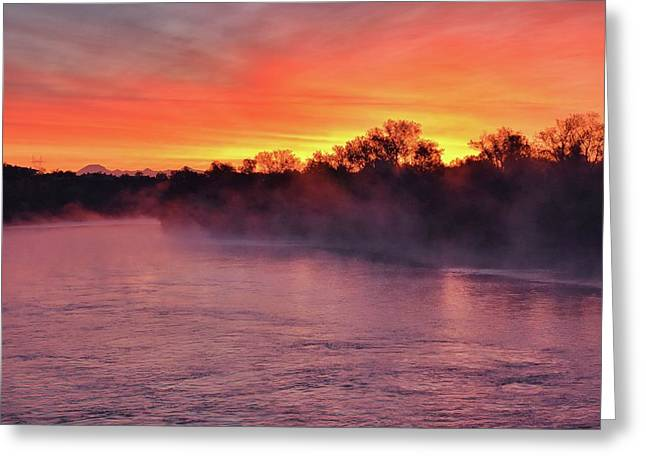 Sacramento River Sunrise Greeting Card
