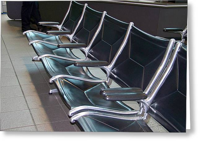 Greeting Card featuring the photograph Sacramento Seating by Barbara MacPhail