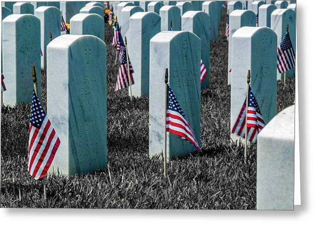 Sacramento Valley Veterans Cemetary Greeting Card by Bill Gallagher