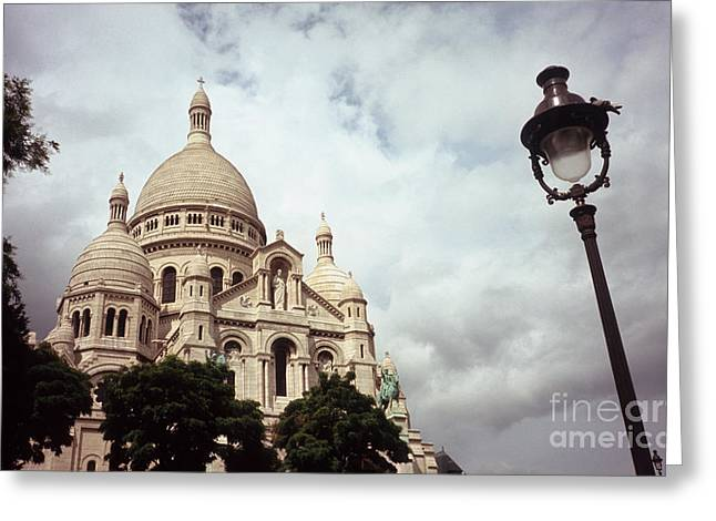 Sacre-coeur And Lamppost Greeting Card by Fabrizio Ruggeri