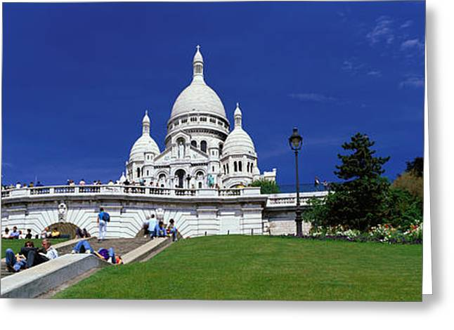 Sacre Coeur Cathedral Paris France Greeting Card by Panoramic Images