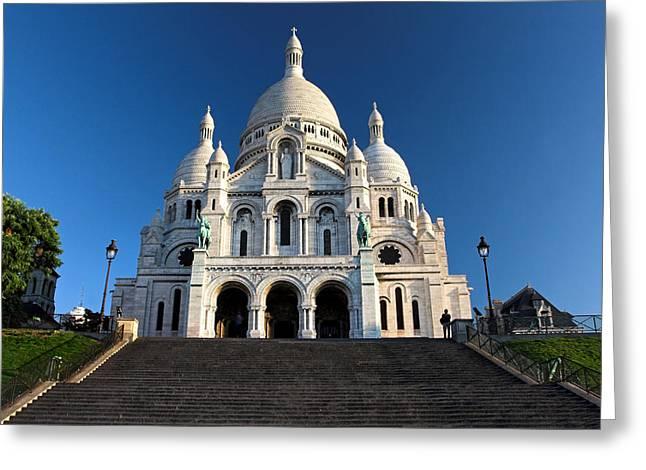 Sacre Coeur Montmartre Paris Greeting Card by Pierre Leclerc Photography