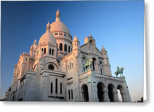 great sacre coeur paris at sunrise greeting card by pierre leclerc photography with leclerc. Black Bedroom Furniture Sets. Home Design Ideas