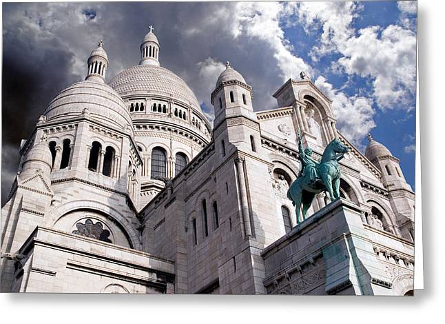 Greeting Card featuring the photograph Sacre-coeur by Rod Jones