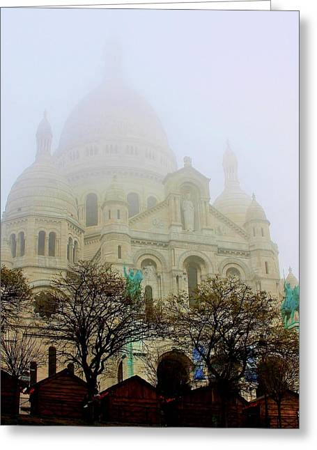 Sacre- Coeur Greeting Card by Stacie Gary