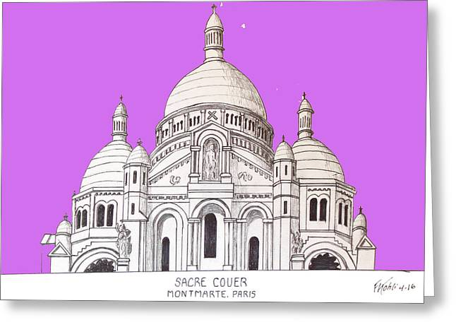 Sacre Couer Greeting Card by Frederic Kohli