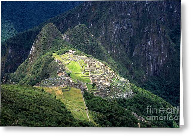 Sacred City Of Machu Picchu Greeting Card by James Brunker