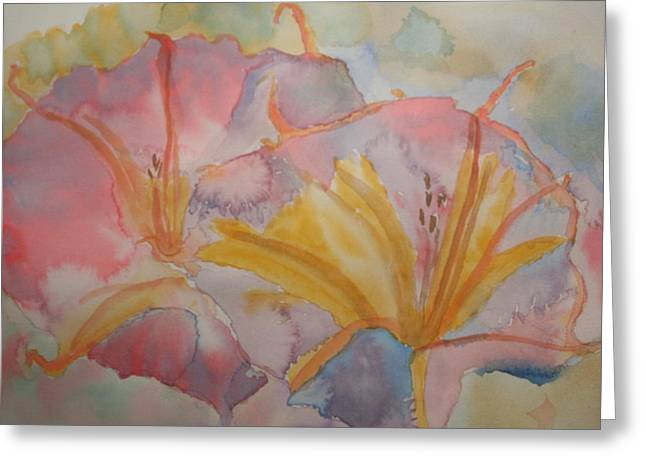 Datura Paintings Greeting Cards - Sacred Datura Abstract Greeting Card by Warren Thompson