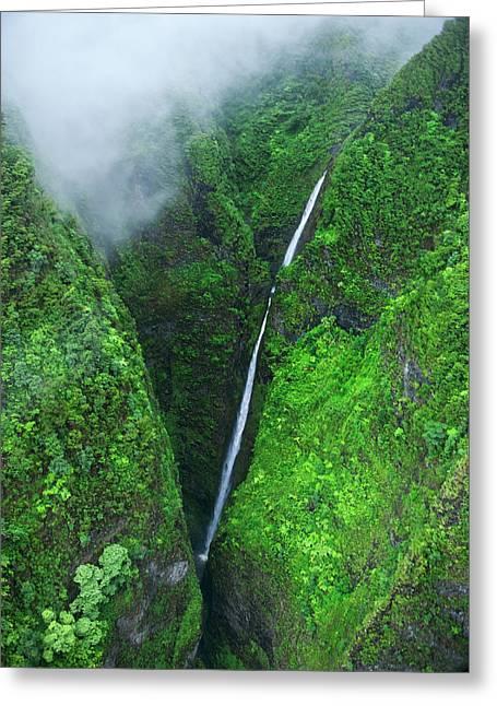 Sacred Falls - Oahu Greeting Card