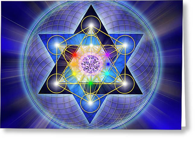 Sacred Geometry 15 Greeting Card by Endre Balogh