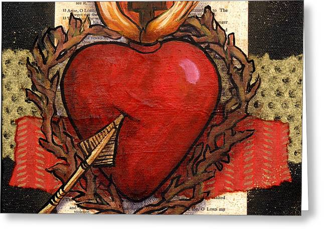 Sacred Heart No. 2 Greeting Card by Candy Mayer
