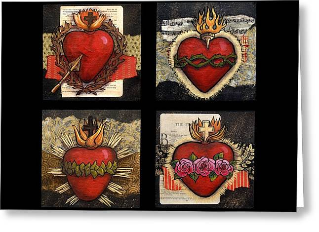 Sacred Hearts Greeting Card by Candy Mayer
