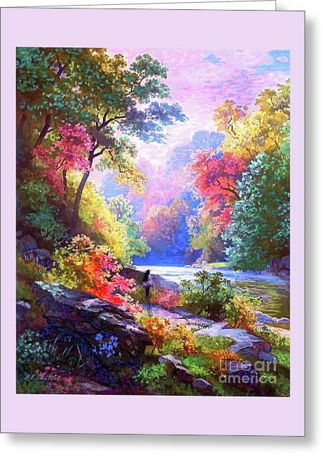 Sacred Landscape Meditation Greeting Card