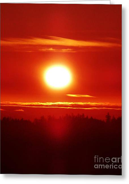 Sacred Sizzling Sunset Greeting Card by JoAnn SkyWatcher