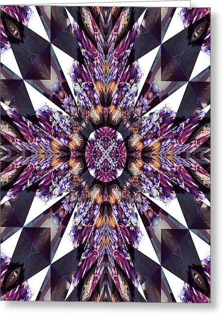 Sacred Star Greeting Card by Ricky Kendall