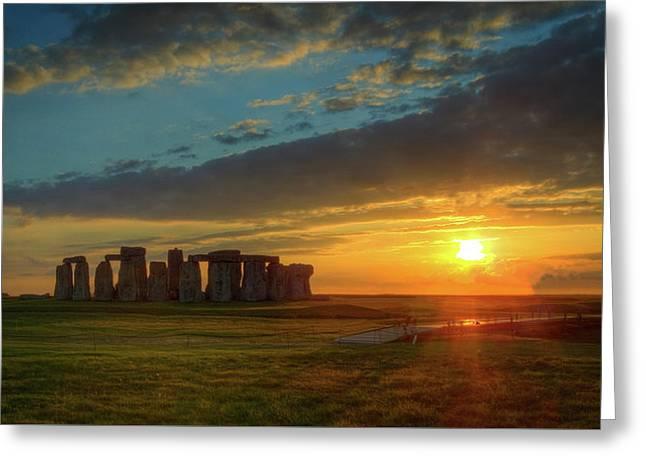 Sacred Sunset Greeting Card