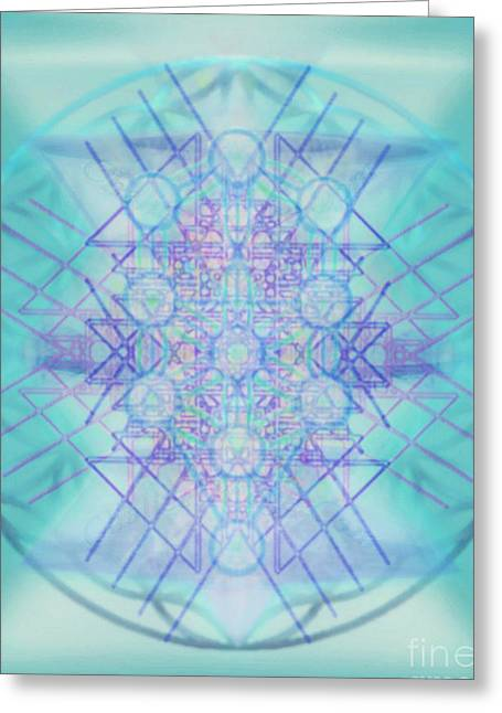 Sacred Symbols Out Of The Void A2b Greeting Card by Christopher Pringer