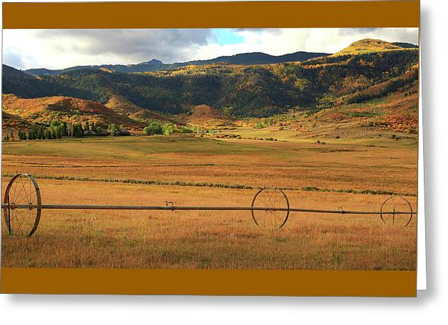 Sacred Valley Greeting Card by Paul Green