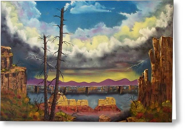 Sacred View Greeting Card by Patrick Trotter