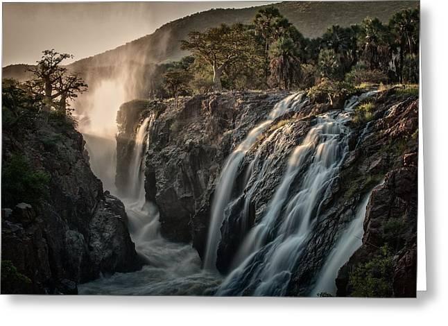 Sacred Waterfalls Greeting Card by Pavol Stranak