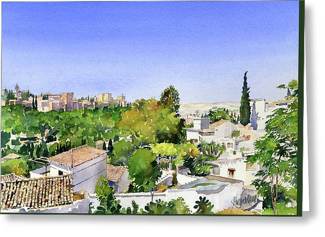 Sacromonte And The Alhambra Granada Greeting Card
