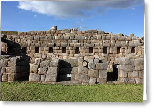 Sacsaywaman Cusco, Peru Greeting Card by Aidan Moran
